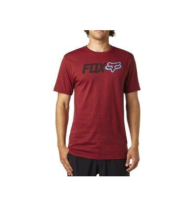 OBSESSED SS TECH TEE HEATHER RED
