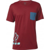 DISPLACED SS TEE HEATHER RED