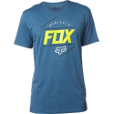 LOOPED OUT SS TEE HEATHER M BLUE