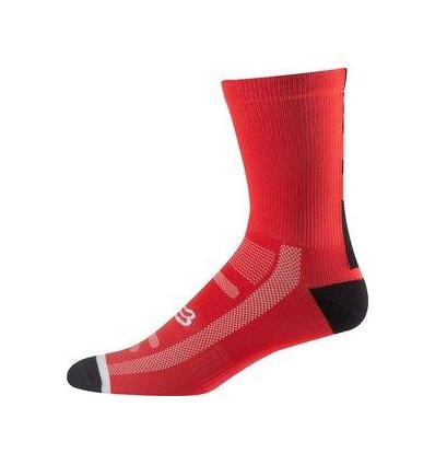 "MTB-SOCK 8"" LOGO TRAIL SOCK FLM RED"