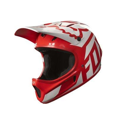 MTB-HELMET RAMPAGE RACE HELMET RED/WHITE